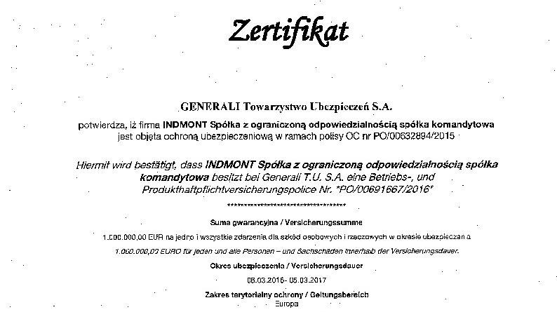Haftpflichtpolice deutsch-polnisch